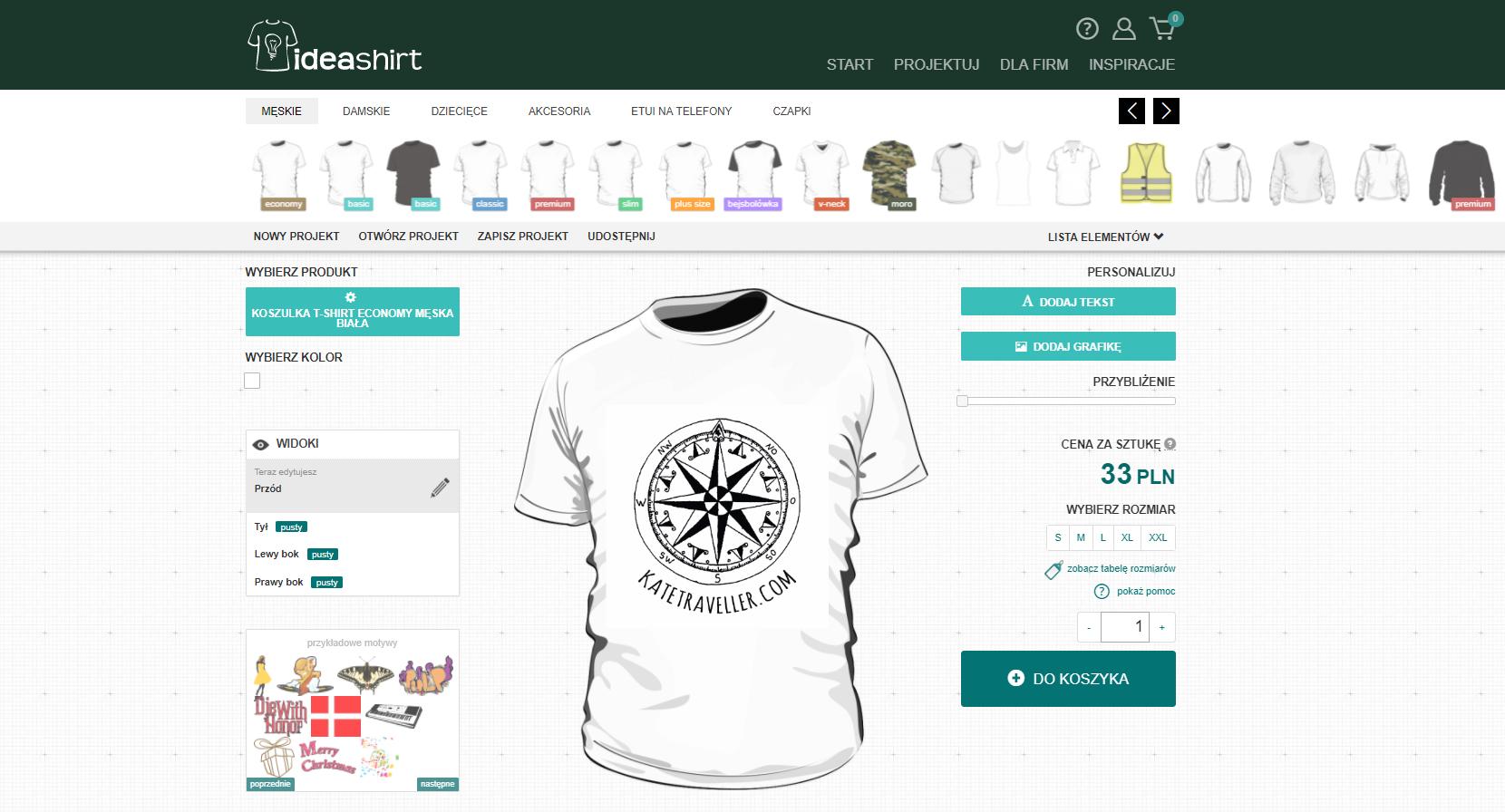 pomysł na prezent dla podróżnika - koszulka