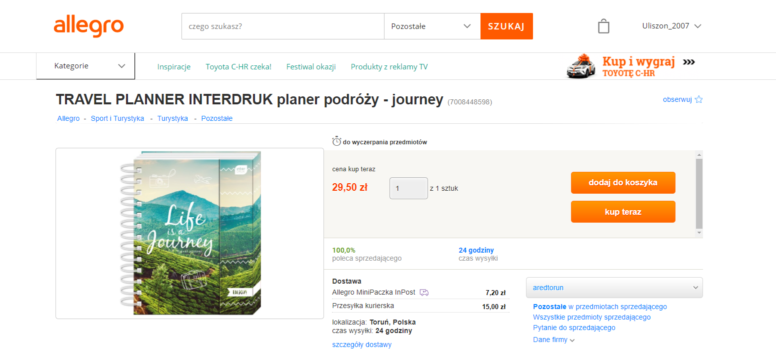 pomysł na prezent dla podróżnika - planer podróży