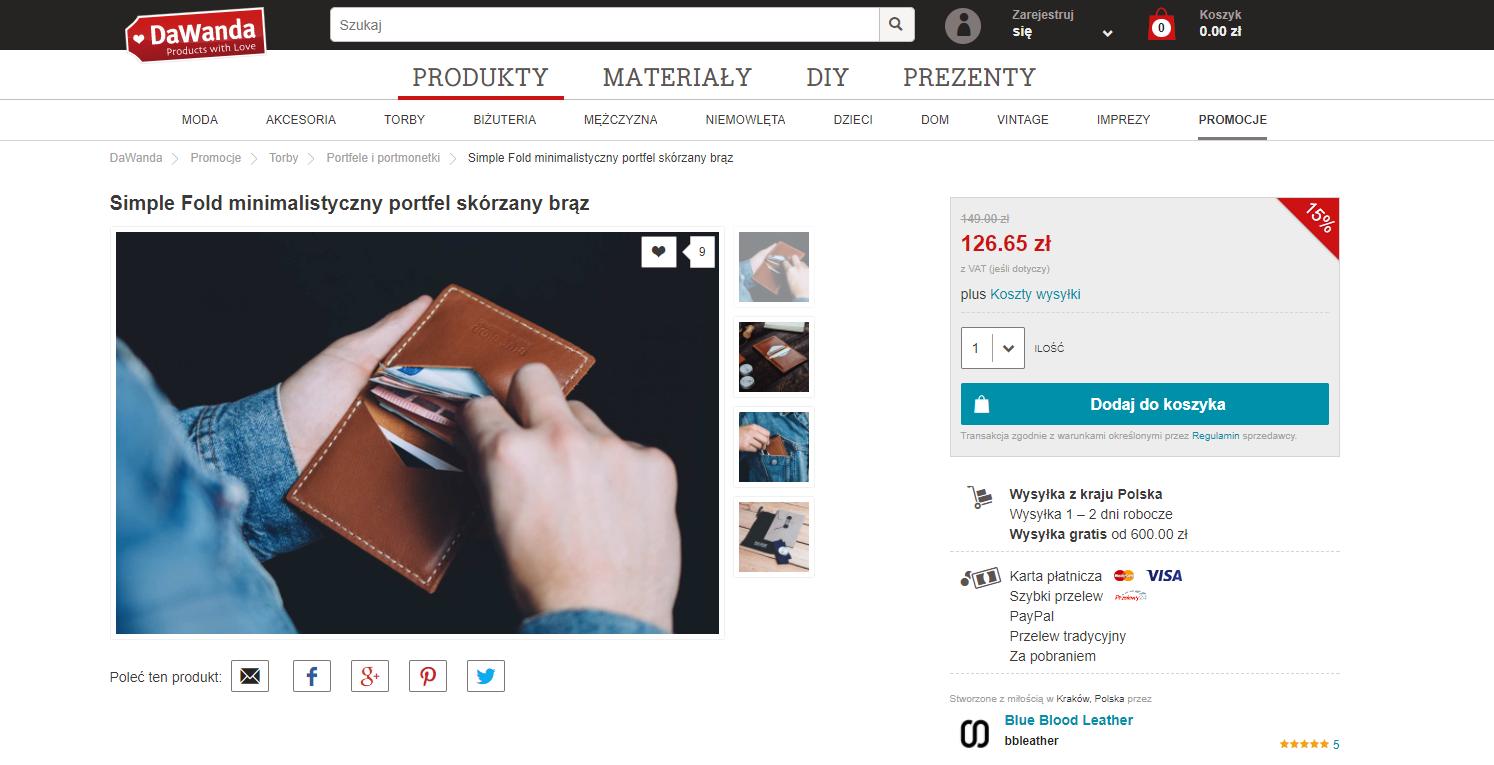 pomysł na prezent dla podróżnika - minimalistyczny portfel