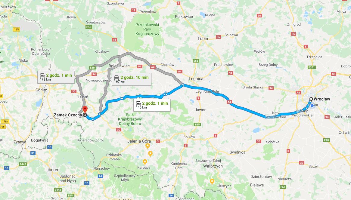 zamek czocha - dojazd- kate traveller