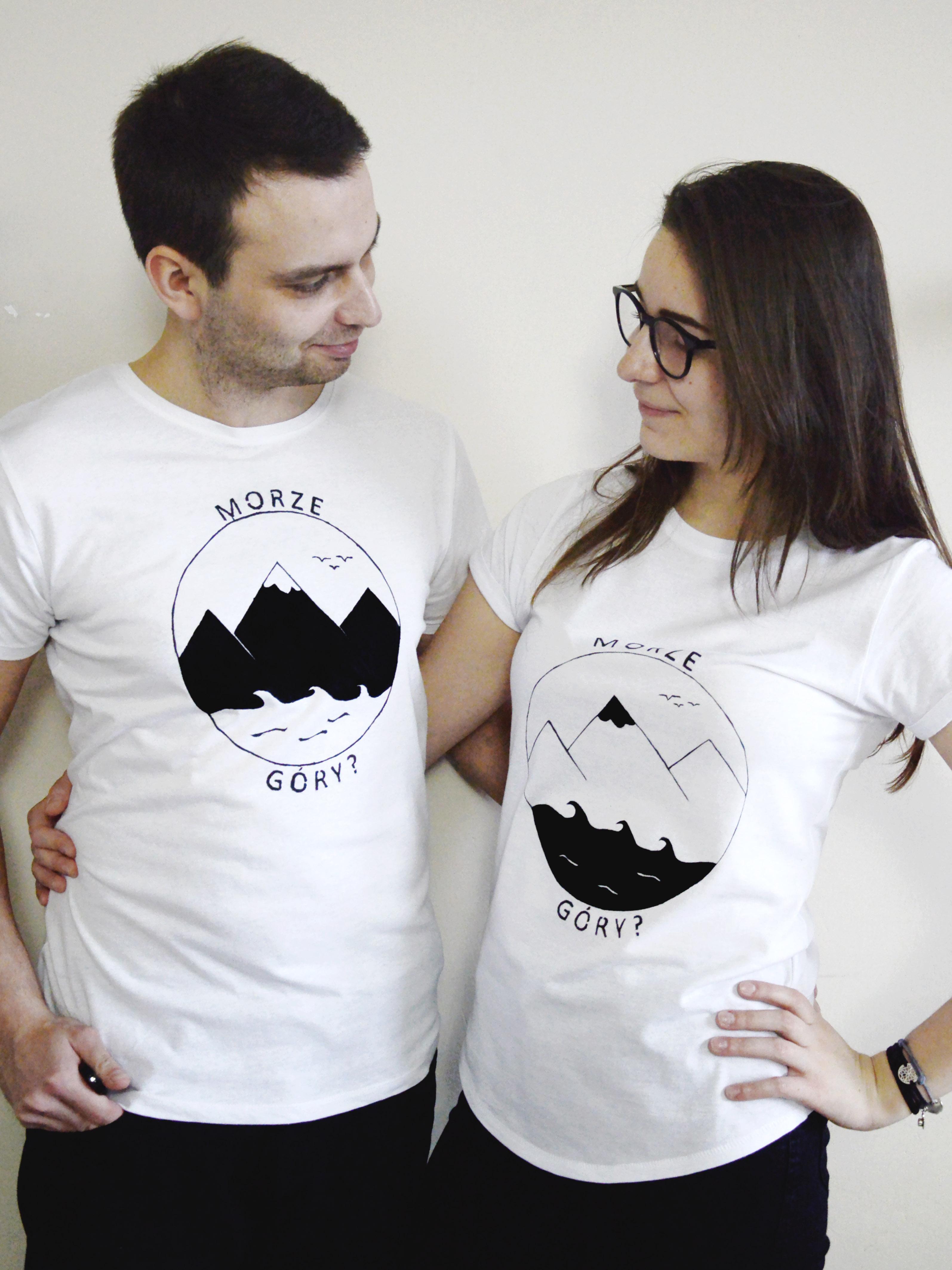 Koszulka handmade z motywem podrózniczym