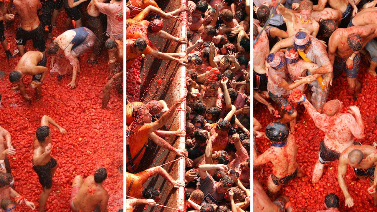 15 faktów i ciekawostek o Hiszpanii -La tomatina - Kate Traveller - Blog Podróżniczy